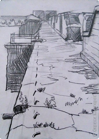Добрый день или вечер мастера и мастерицы. Выкладываю очередные рисунки и картины В.Д. Попова. На этот раз - г. Кронштадт . Эта работа висит сейчас в музее г. Кронштадта. фото 15
