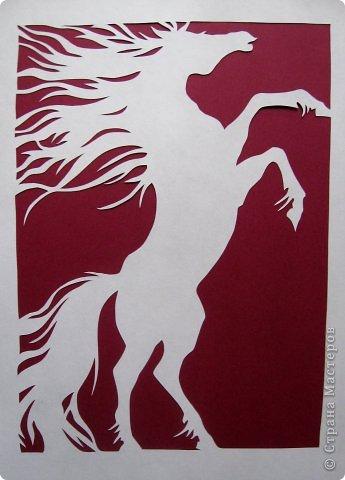 Картина панно рисунок Новый год Вырезание Кони_Lois Cordelia Бумага фото 4