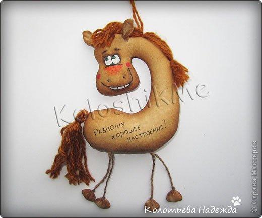 Мастер-класс Поделка изделие Новый год Шитьё Лошадки позитивные Кофе Нитки Пряжа Ткань фото 24