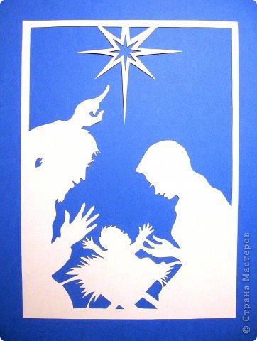 Картина панно рисунок День матери Рождество Вырезание Рождество Звезда Материнство_Lois Cordelia Бумага фото 2