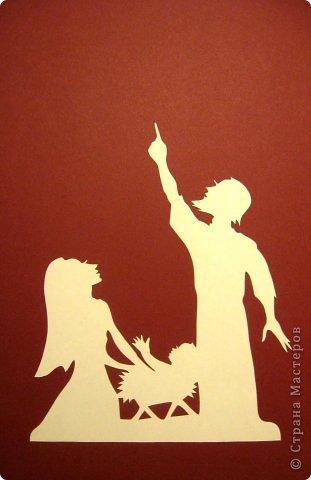 Картина панно рисунок День матери Рождество Вырезание Рождество Звезда Материнство_Lois Cordelia Бумага фото 9