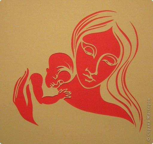 Картина панно рисунок День матери Рождество Вырезание Рождество Звезда Материнство_Lois Cordelia Бумага фото 13