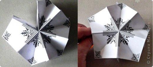 Пока мы все преображаем свои дома новогодними украшениями, хочу предложить вам сделать такие объемные «снежинки». Возможно, подобные формы уже на сайте присутствуют, значит, я предложу свою версию. фото 30