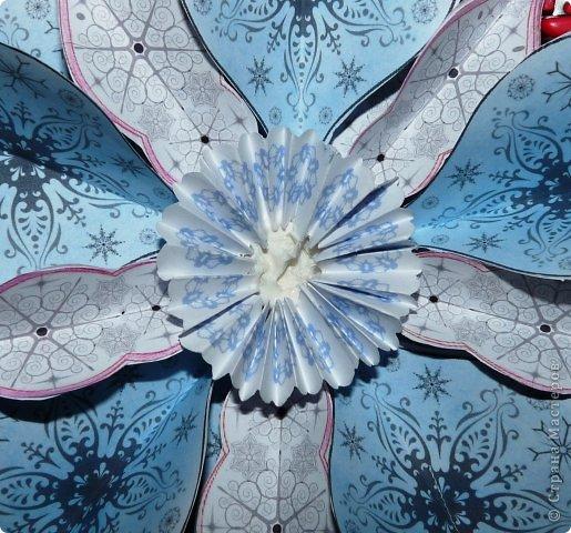 Пока мы все преображаем свои дома новогодними украшениями, хочу предложить вам сделать такие объемные «снежинки». Возможно, подобные формы уже на сайте присутствуют, значит, я предложу свою версию. фото 17