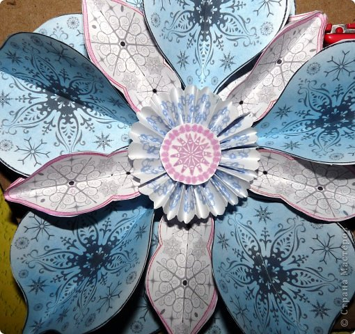 Пока мы все преображаем свои дома новогодними украшениями, хочу предложить вам сделать такие объемные «снежинки». Возможно, подобные формы уже на сайте присутствуют, значит, я предложу свою версию. фото 18