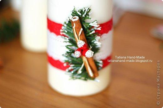 Декор предметов Новый год Мастер-класс Новогодний декор свечи своими руками Воск парафин Картон Клей фото 1