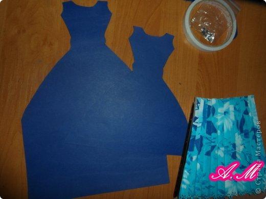 Мастер-класс Скрапбукинг 8 марта Аппликация Мастер класс открытка  Платье Бумага фото 4