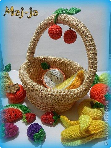 Игрушка Мастер-класс Пасха Вязание крючком Вязаная крючком корзинка Нитки