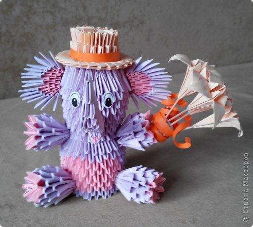 Слон Модульное оригами