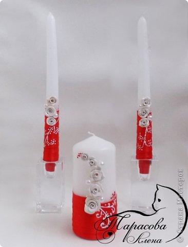 """Доброе утро! Мои красно-белые свечи """"Стрелы амура"""".  фото 2"""
