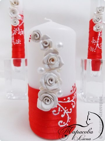 """Доброе утро! Мои красно-белые свечи """"Стрелы амура"""".  фото 3"""