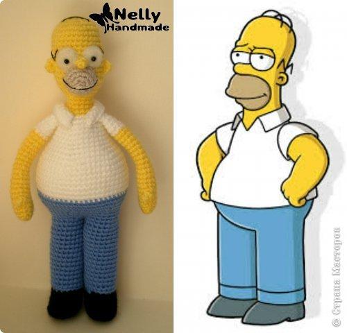 Вязание крючком Симпсоны