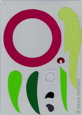 Зеленый попугай (подвеска). фото 2