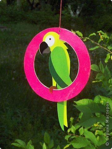 Зеленый попугай (подвеска).