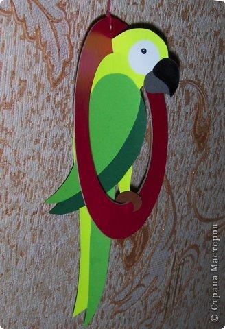 Зеленый попугай (подвеска). фото 6