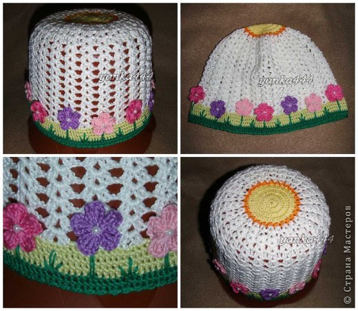 Гардероб Вязание крючком Детские шапочки шляпки береты Пряжа фото 7