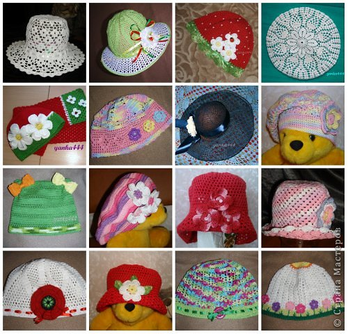 Вязание детских шапочек и биретов крючком