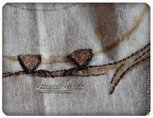 Гардероб Мастер-класс Аппликация Вышивка Шитьё Летняя сумка с аппликацией Совушка Нитки Пуговицы Ткань фото 17