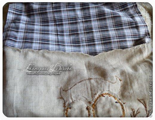 Гардероб Мастер-класс Аппликация Вышивка Шитьё Летняя сумка с аппликацией Совушка Нитки Пуговицы Ткань фото 36