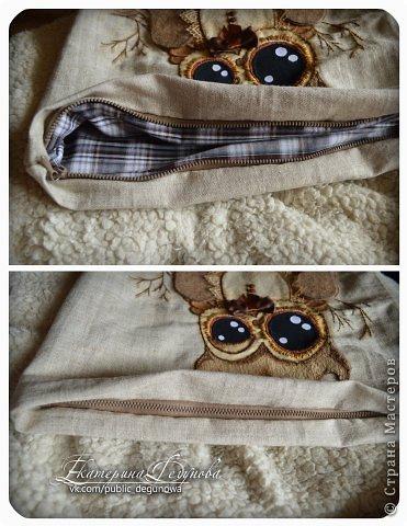 Гардероб Мастер-класс Аппликация Вышивка Шитьё Летняя сумка с аппликацией Совушка Нитки Пуговицы Ткань фото 40