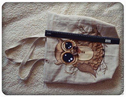 Гардероб Мастер-класс Аппликация Вышивка Шитьё Летняя сумка с аппликацией Совушка Нитки Пуговицы Ткань фото 43