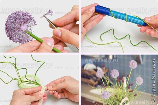Тычинки для цветов из полимерной глины