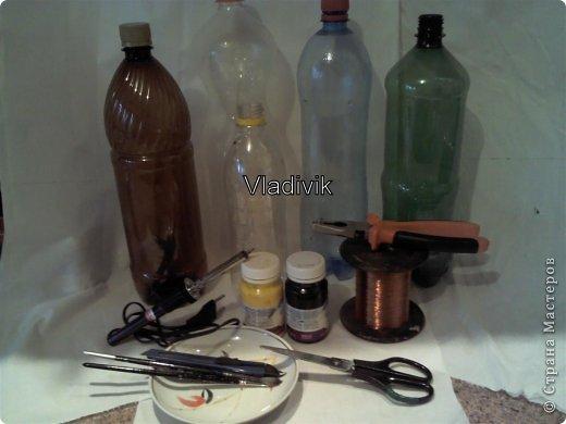 Доброго времени суток! Хочу представить вам мою новую работу - ПОДСОЛНУХ! УраАААА!  Для работы нам как всегда понадобятся пластиковые бутылки, которые валяются везде и всюду. Теперь мы будем из них делать красоту!)) фото 2