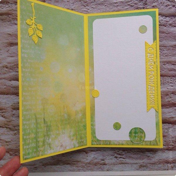 Ой, совсем забыла показать третью открытку с фотографией.  На юбилей юной барышне. Пожелания были по цветовой гамме, поэтому пришлось немного изменить цвета в фотографии, чтоб пазл сошелся:) Горячий эмбоссинг. фото 3