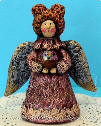 Сегодня один из самых светлых и радостных праздников - Пасха! Я очень люблю делать ангелов в разных техниках. Это такая благодатная тема для творчества. Всем сегодня пасхальные ангелы поют с небес свои праздничные песни! фото 6