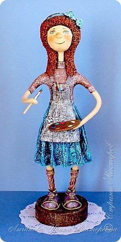 """""""Мамина радость"""" моя новая кукла  в технике папье-маше.  фото 1"""