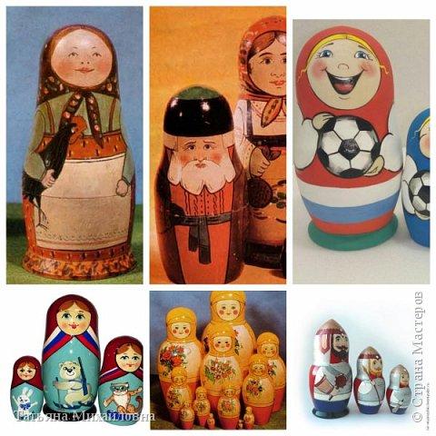 ПЕРВАЯ МАТРЕШКА - девочка с черным петухом. Внутри еще семь матрешек. Матрешки есть в каждом доме. Они вместе с нами на ЧМ по футболу, на Олимпиадах в Москве и Сочи. Бояре, богатыри-воины, космонавты, спортсмены. А у вас дома хранится матрешка?