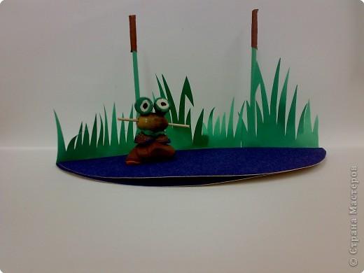 Лягушка на болоте