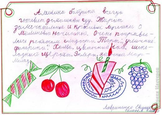 """Рассказ-алфавит """"Вкусные буквы"""""""
