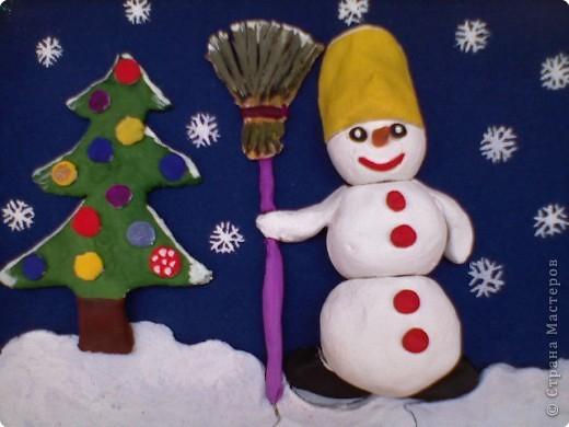 Снеговик у ёлочки  фото 2