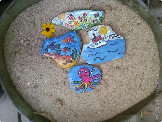 Летние фантазии на морских камушках фото 2