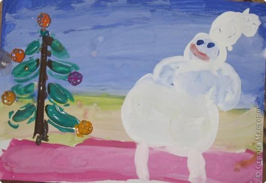 Снеговик и ёлочка фото 1