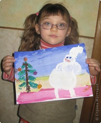 Снеговик и ёлочка фото 2