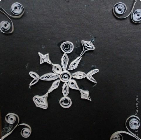 Снежинка квиллинг