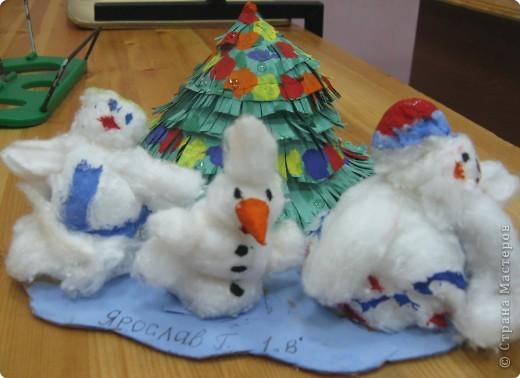 Снеговики встречают Новый год фото 2