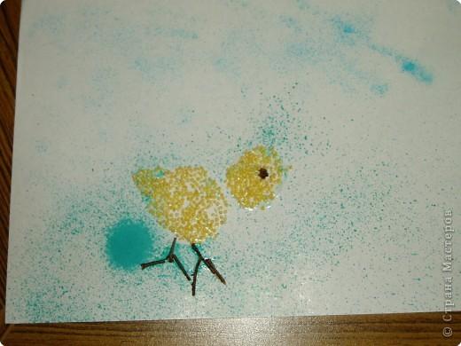 Цыплятки на лугу фото 2