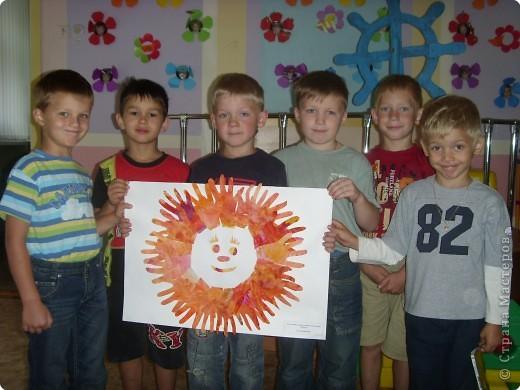 Вот какое солнышко создали наши мальчишки.  фото 2