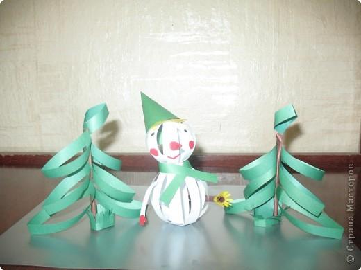 Снеговик и ёлочка