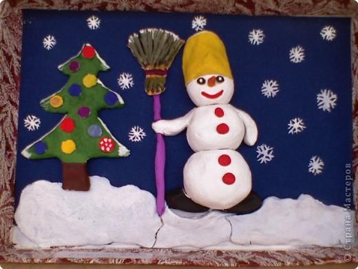 Снеговик у ёлочки  фото 1