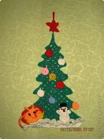 """Настенное панно """"У новогодней ёлки"""""""