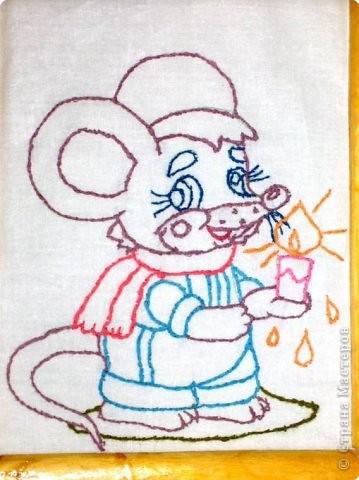 Мышка со свечкой