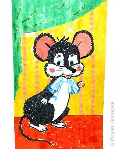 «Озорная мышка» - бумажная мозаика