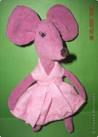 Розовая мышка Фрося. Поделка.