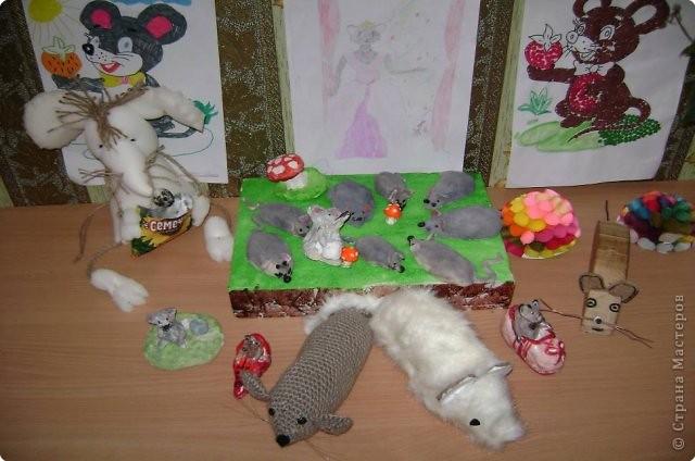 Объемная композиция «Мышиное королевство» фото 1