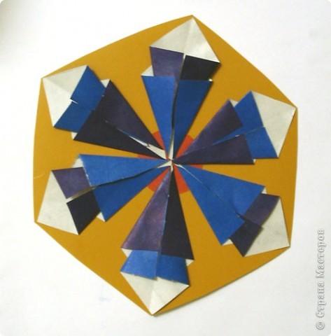 Снежинка из модулей оригами мастер класс, поделки.