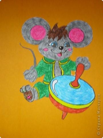 Забавный мышонок
